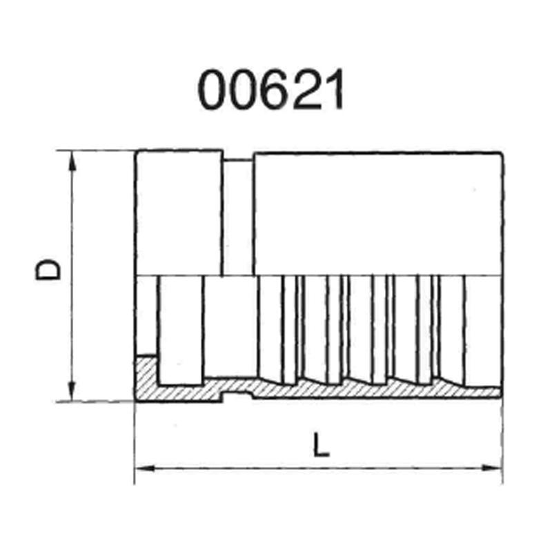 INTERLOCK FERRULE FOR DIN20023R13、4SH HOSE