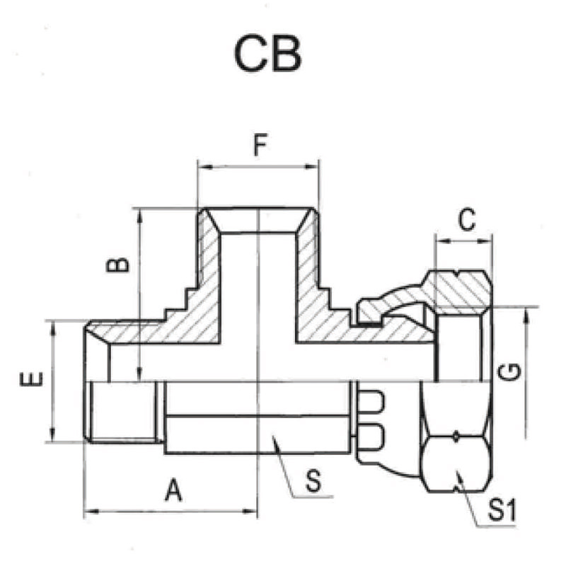 BSP外螺纹60°内锥/内螺纹60°外锥主支三通