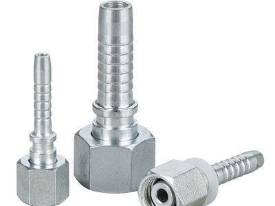 Straight crimping hose joint
